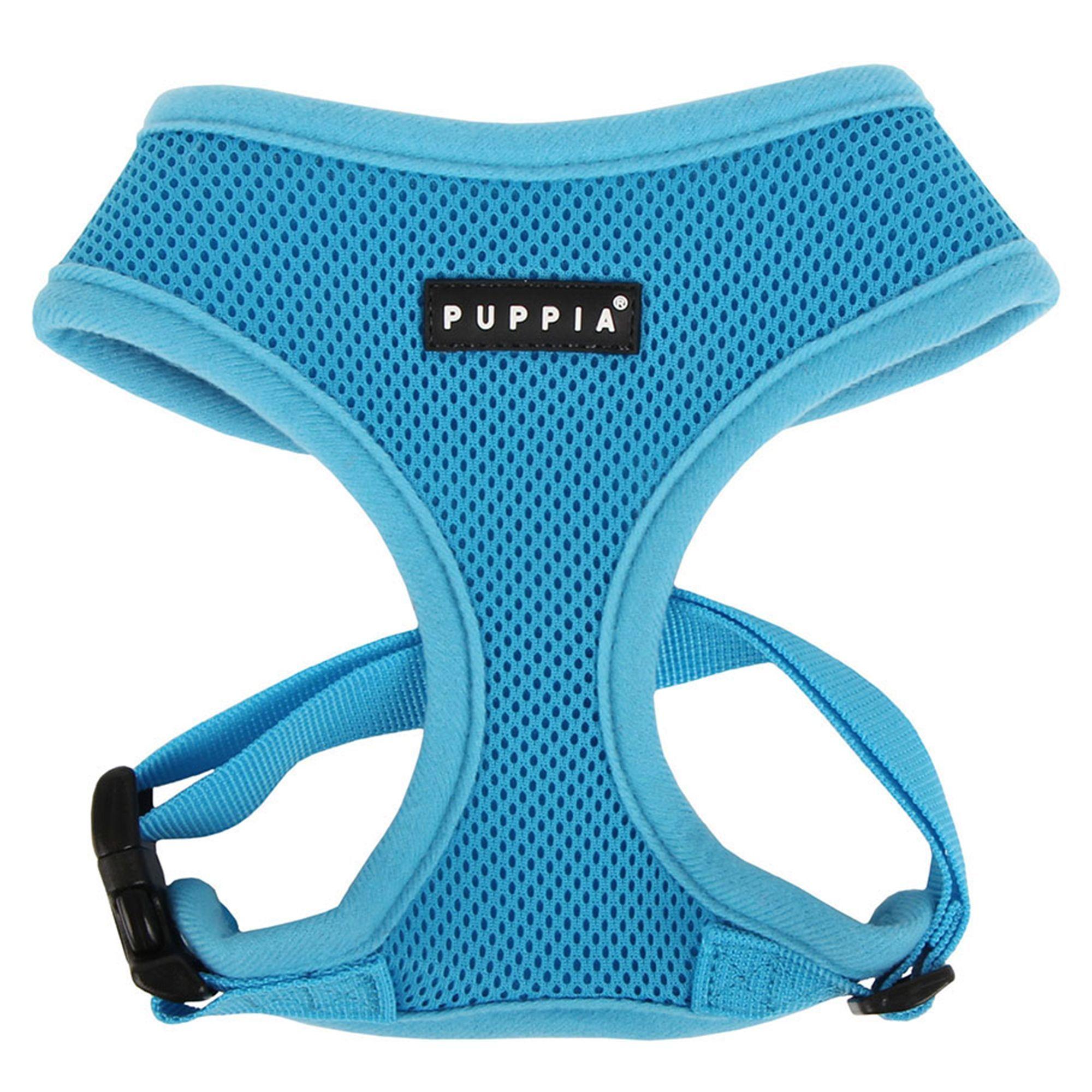 Puppia Soft Adjustable Dog Harness size X Small, Sky Blue