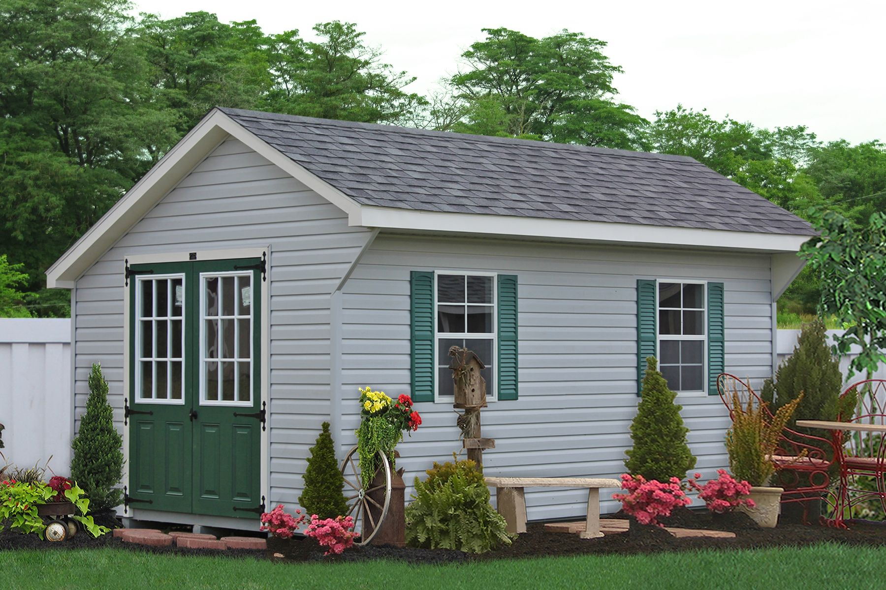 Modular Prebuilt Garages For Sale From Lancaster Pa: Vinyl Sided Shed For Sale In Lancaster, PA. Buy A Vinyl