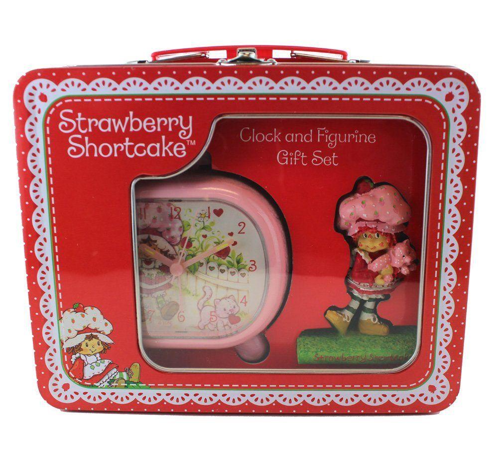 Amazon.com: Strawberry Shortcake Clock and Figurine Set - Strawberry Shortcake Clock Gift Box: Home & Kitchen