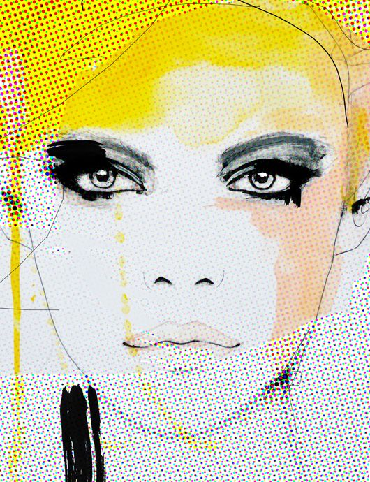 "inspired by makeup, colors, & patterns. ""Ruse"" 