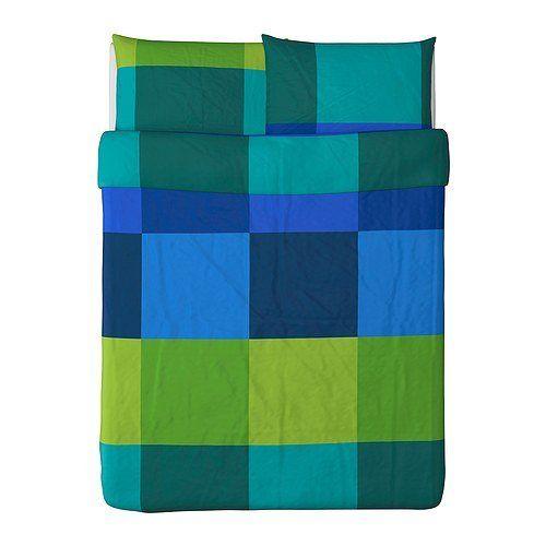 Ikea Brunkrissla Duvet Cover And Pillowcases Full Queen Blue Ikea Http Www Amazon Com Dp B00p29ouoq Ref Duvet Cover Sets Duvet Covers Duvet Comforter Sets