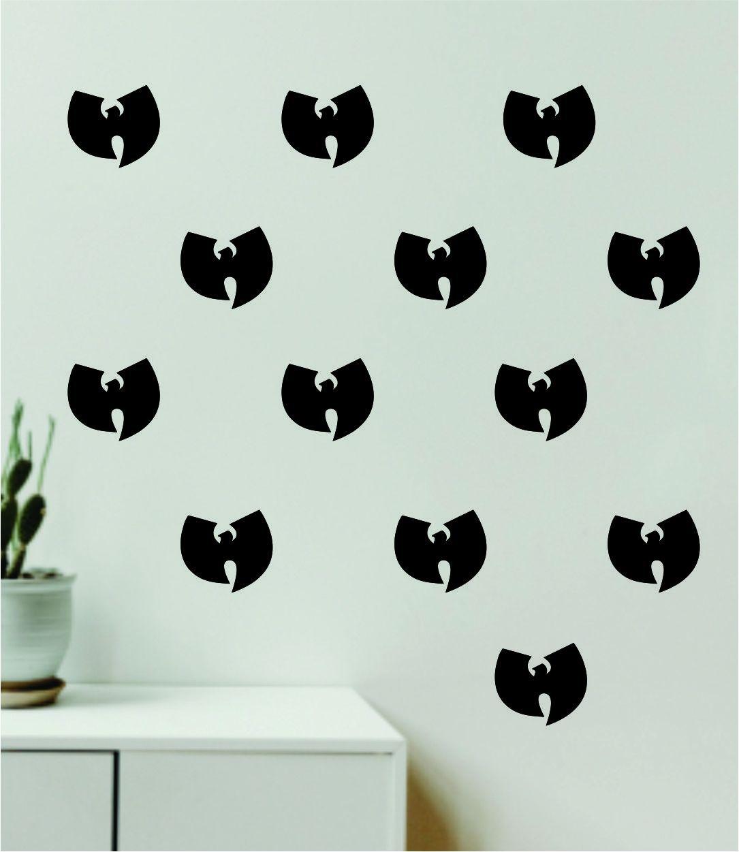 Wu Tang Pattern Set of 20 Wall Decal Home Decor Bedroom Room Quote Vinyl Sticker Teen Music Rap Hip Hop Girls - black