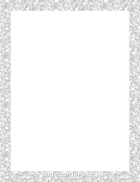 silver glitter border paper