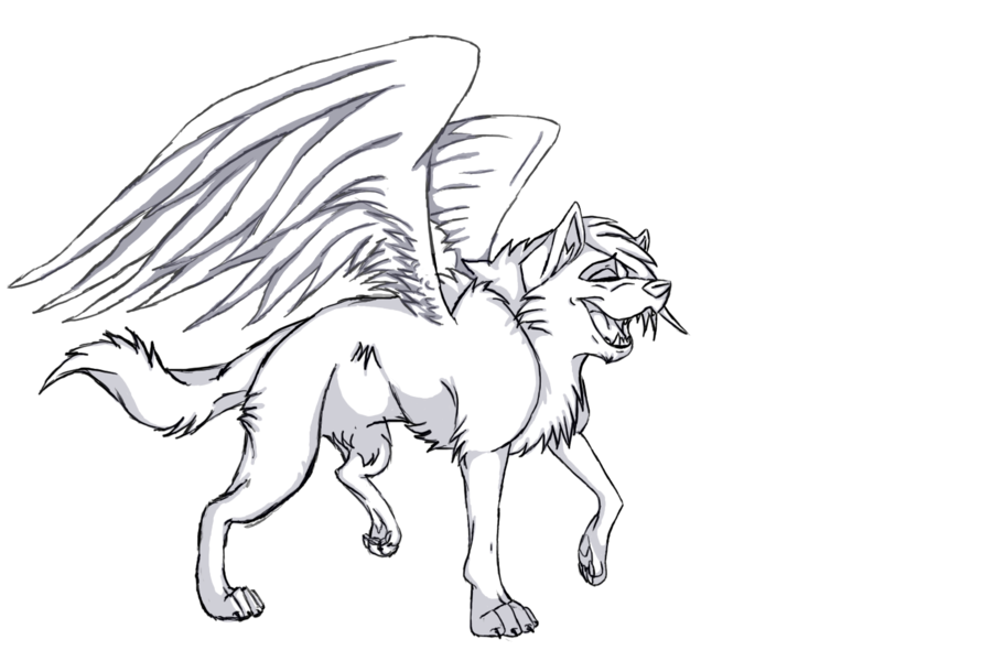 It is an image of Crush Cat With Wings Coloring Pages