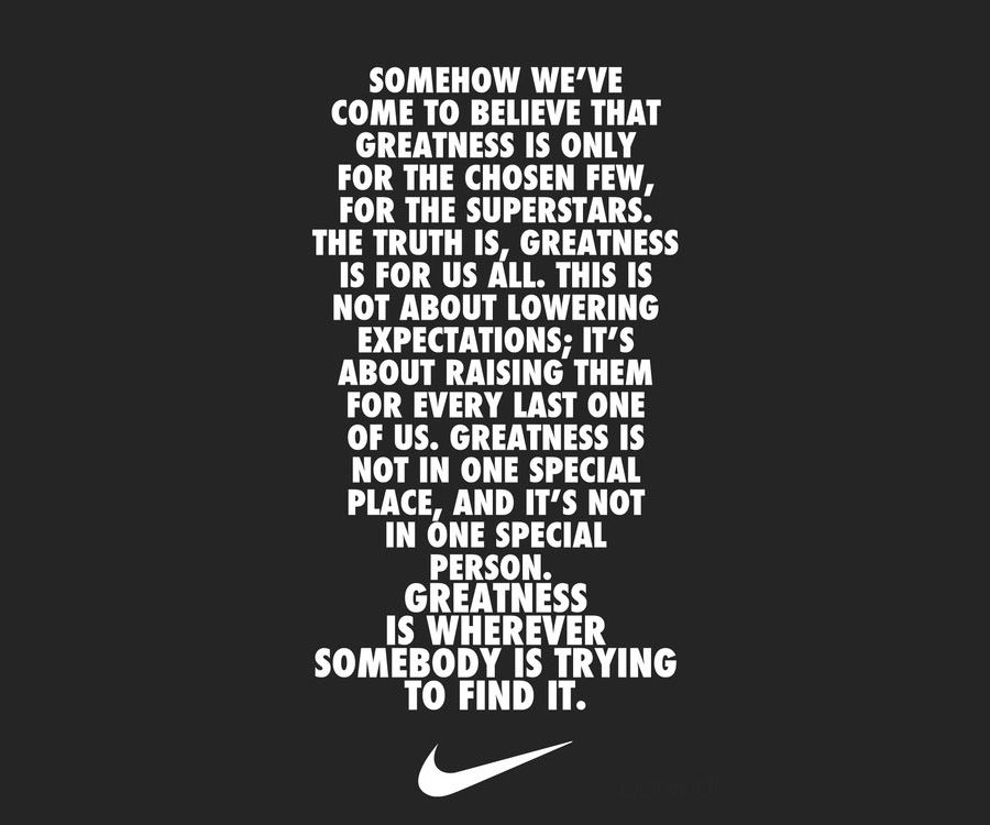 inspirational qoues about sports nike | Nike Inspirational Quotes ...