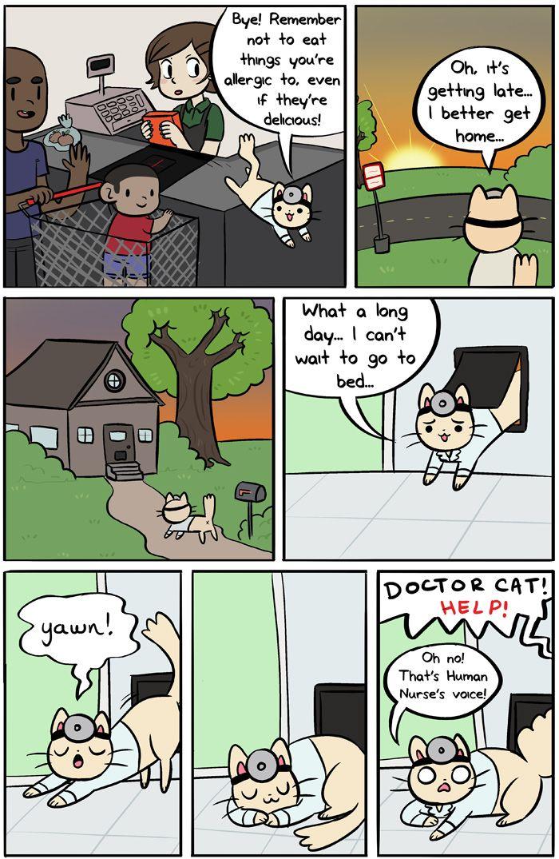 Dr. Cat Comics. Doctor cat, Cat comics, Comics