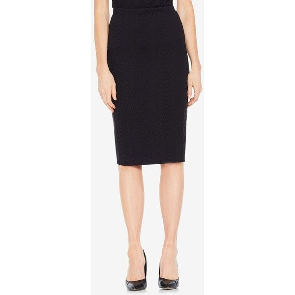 ce926a2bf164b3 Vince Camuto Cable-Knit Pencil Skirt ( 69) ❤ liked on Polyvore featuring  skirts