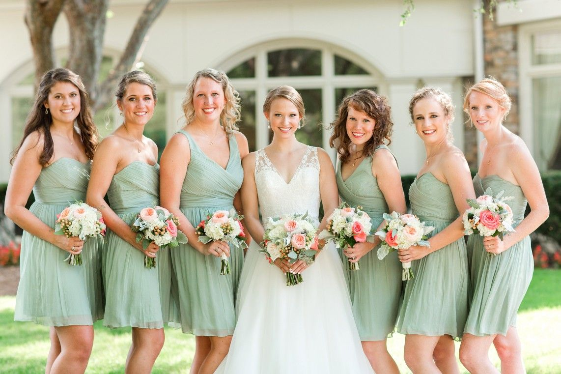 Beautiful Virginia Wedding With Amazing Green And Pink Color Palette To See More