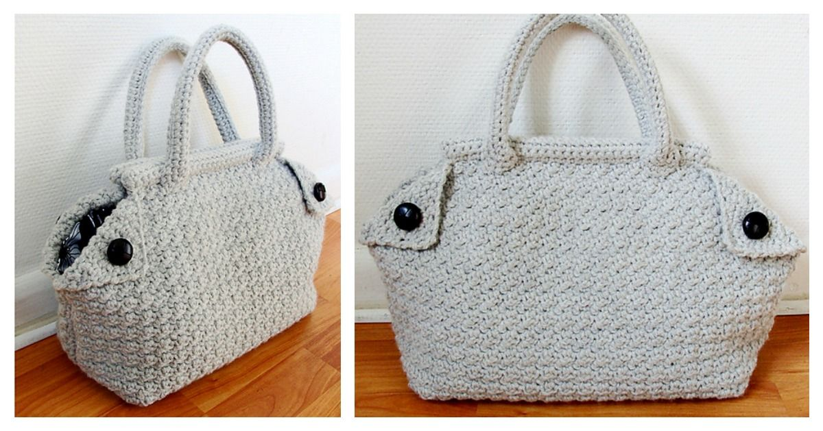 Do you learn how to crochet a stylish bag like this beautiful Derek Bag? You can use Derek Bag Free Crochet Pattern to make your very own.