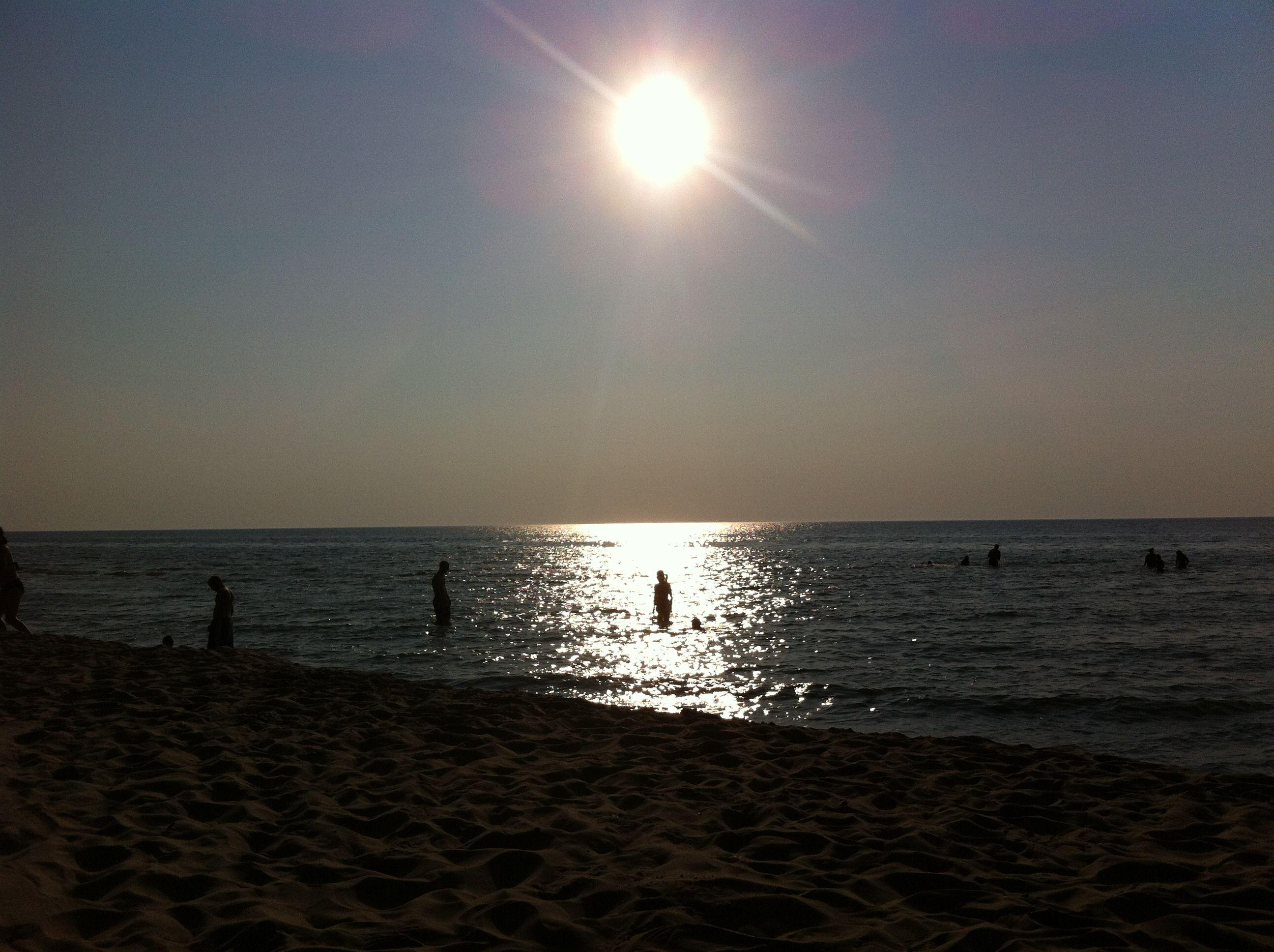 The gorgeous sunset on lake michigan
