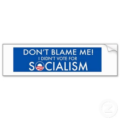 Anti obama dont blame me funny political bumper sticker