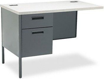 Metro Classic Workstation Return, Left, 42w X 24d, Gray Patterned/charcoal