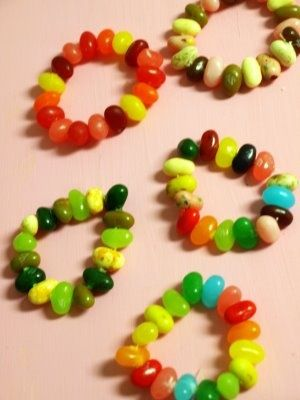 Jelly Belly Bracelets Fun For An Easter Project