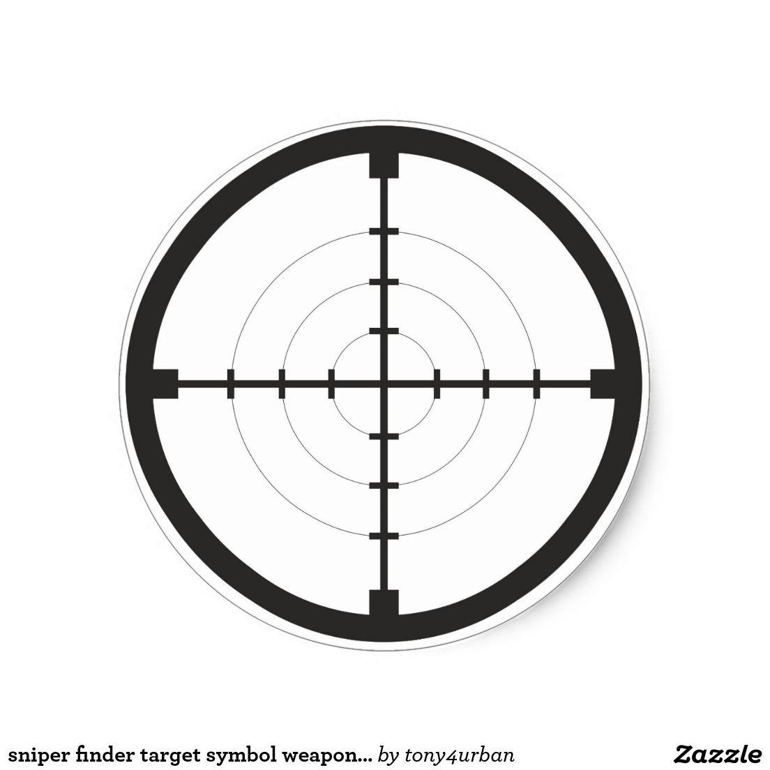 Sniper finder target symbol weapon gun army classic round sticker sniper finder target symbol weapon gun army round sticker biocorpaavc Images
