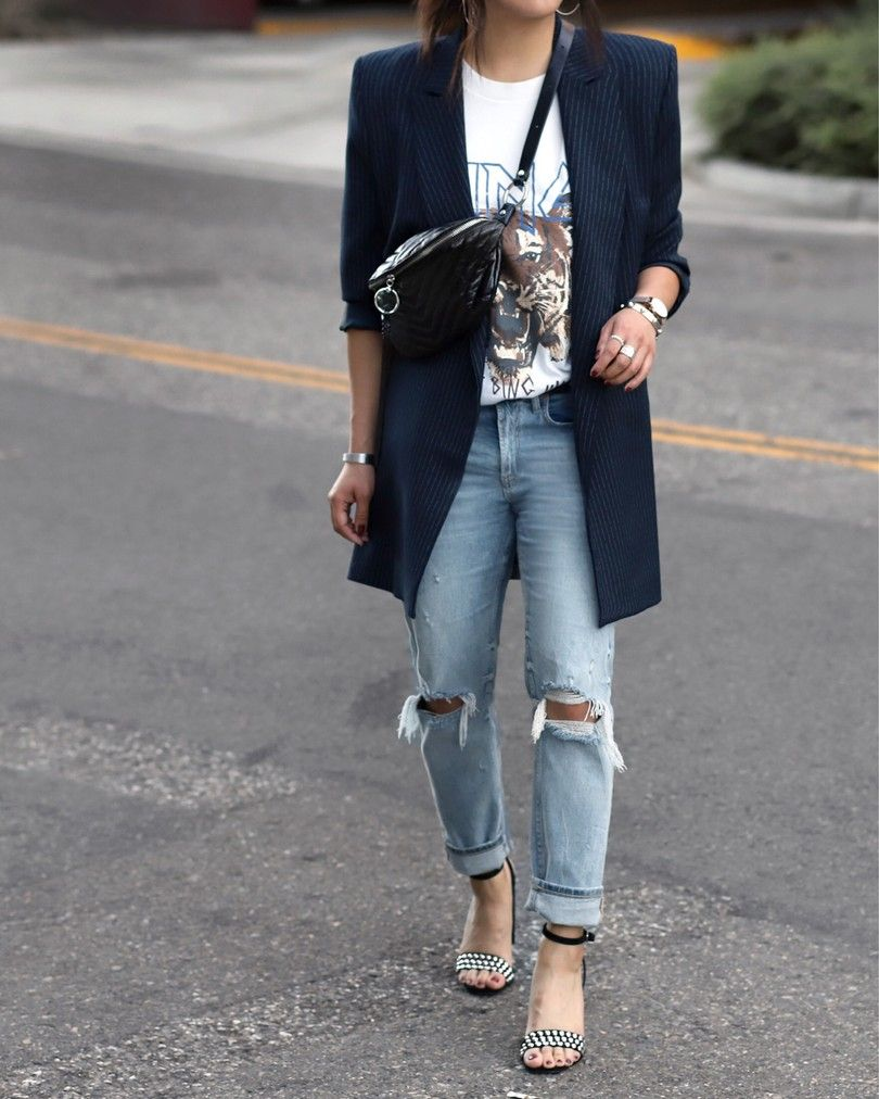 fanny packs and jeans street style