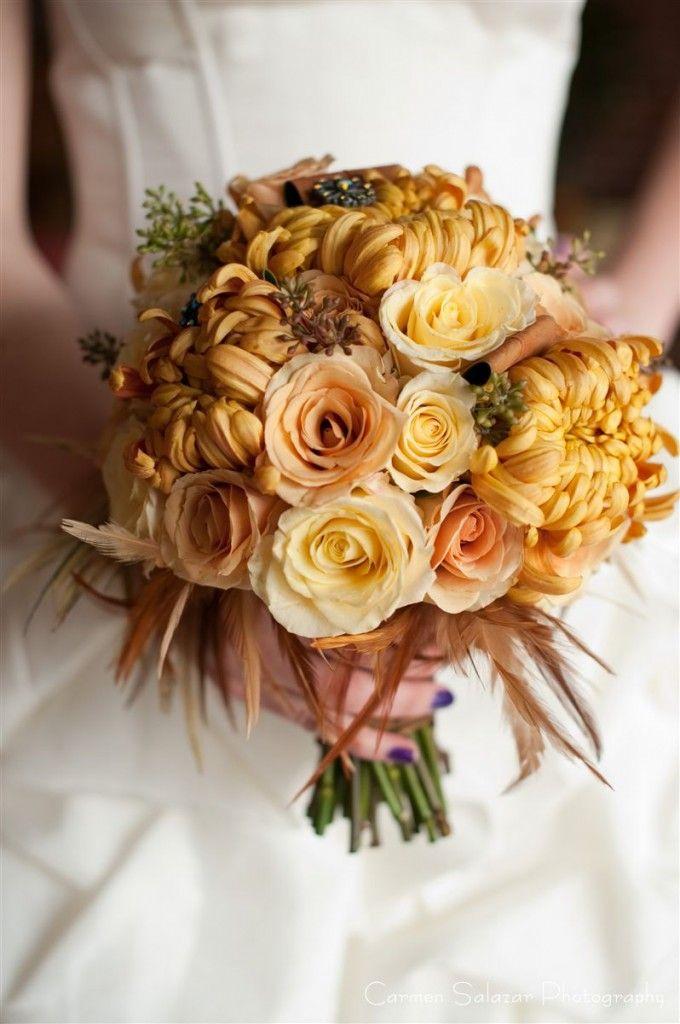 Bronze Bouquet For Fall Chrysanthemum Wedding Fall Wedding