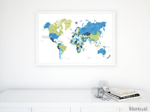 30x20 world map with countries travel pinboard map lime green 30x20 world map with countries travel pinboard map lime green navy blue gumiabroncs Choice Image