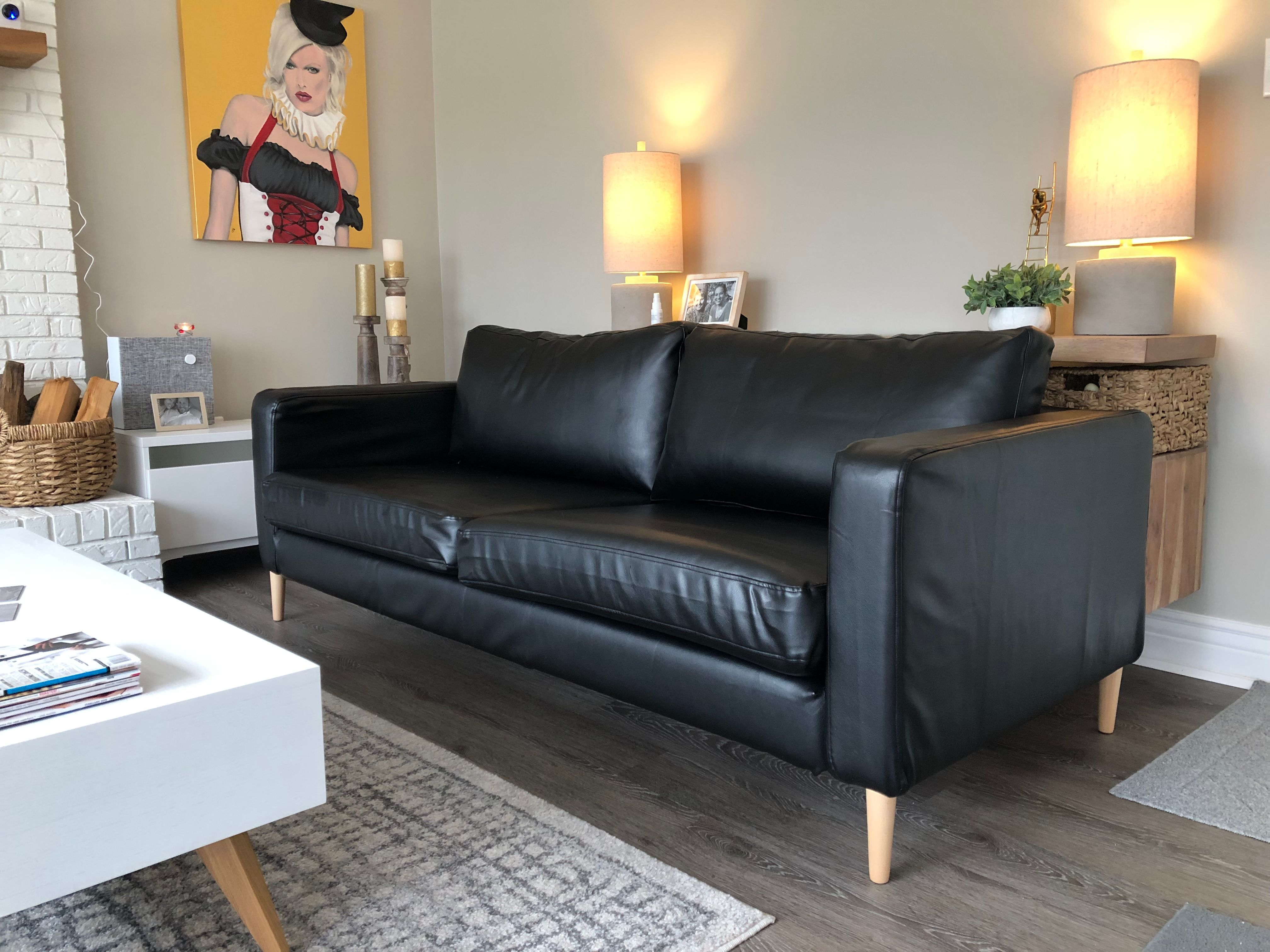 Ikea Karlstad Sofa In Comfort Works Modena Black Leather Sofa Slipcovers Looking To Have Sofa Slipcovers I Sofa Decor Ikea Karlstad Sofa Ikea Leather Sofa