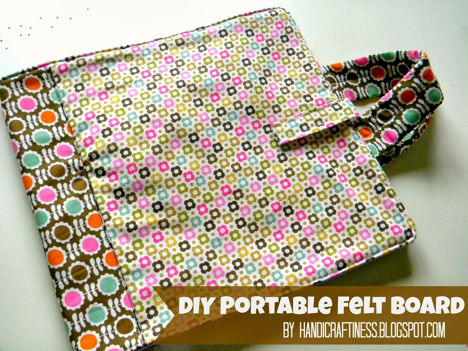 Handicraftiness: Free Tutorial and Pattern for a Portable Felt Board