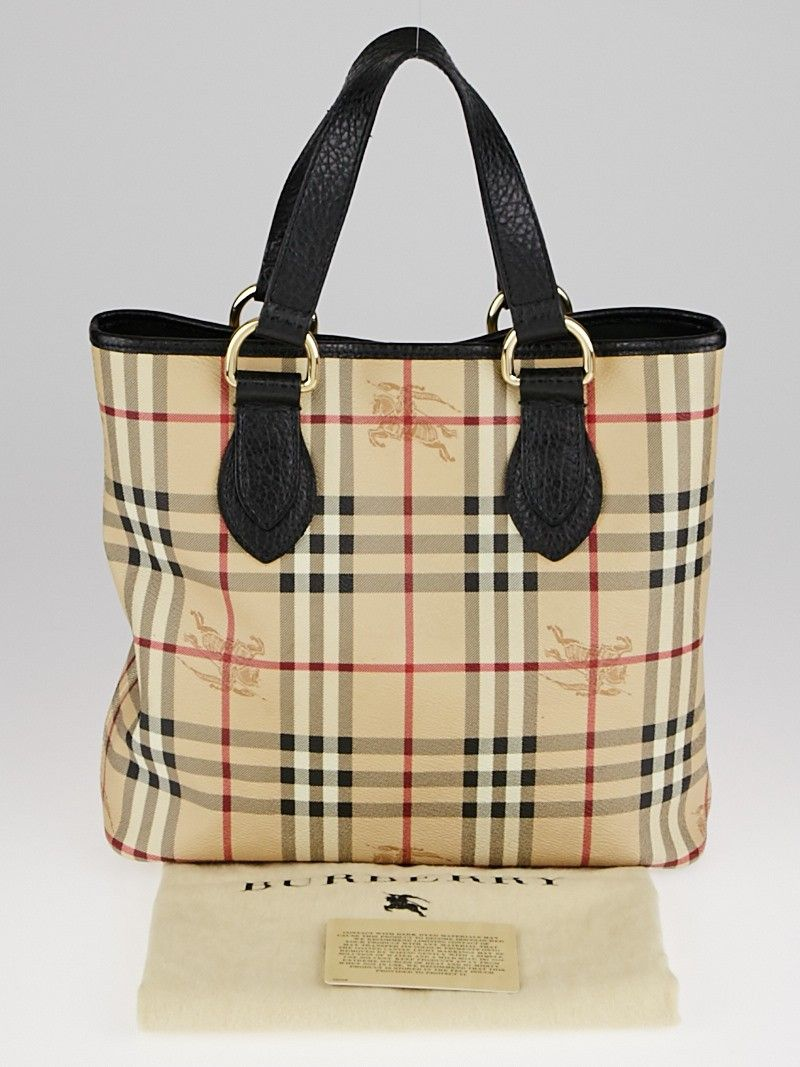 f3d33ab0643d The Burberry Haymarket Check Regent Small Tote Bag has fashion and  functionality all rolled into one. Featuring classic Haymarket Check coated  canvas and ...