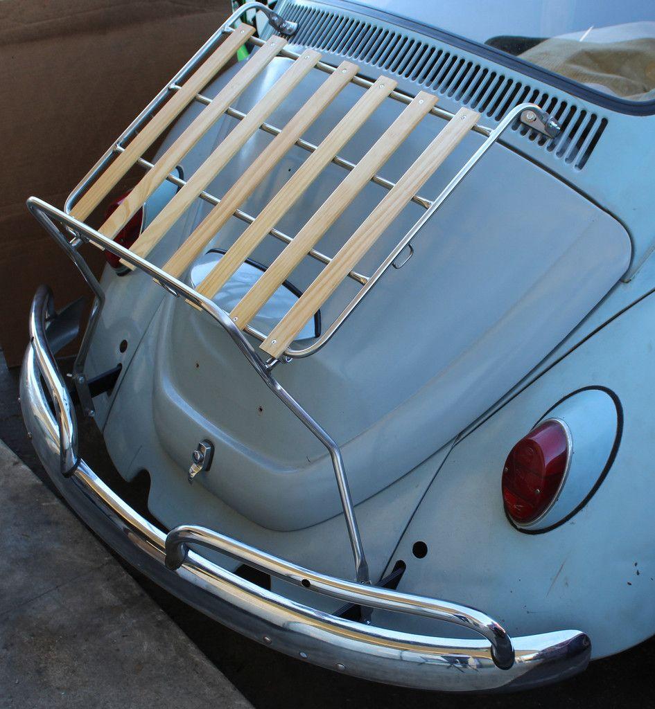 """VW Type 1 Deck Lid Rack """"Stainless Steel"""" Vw sedan"""