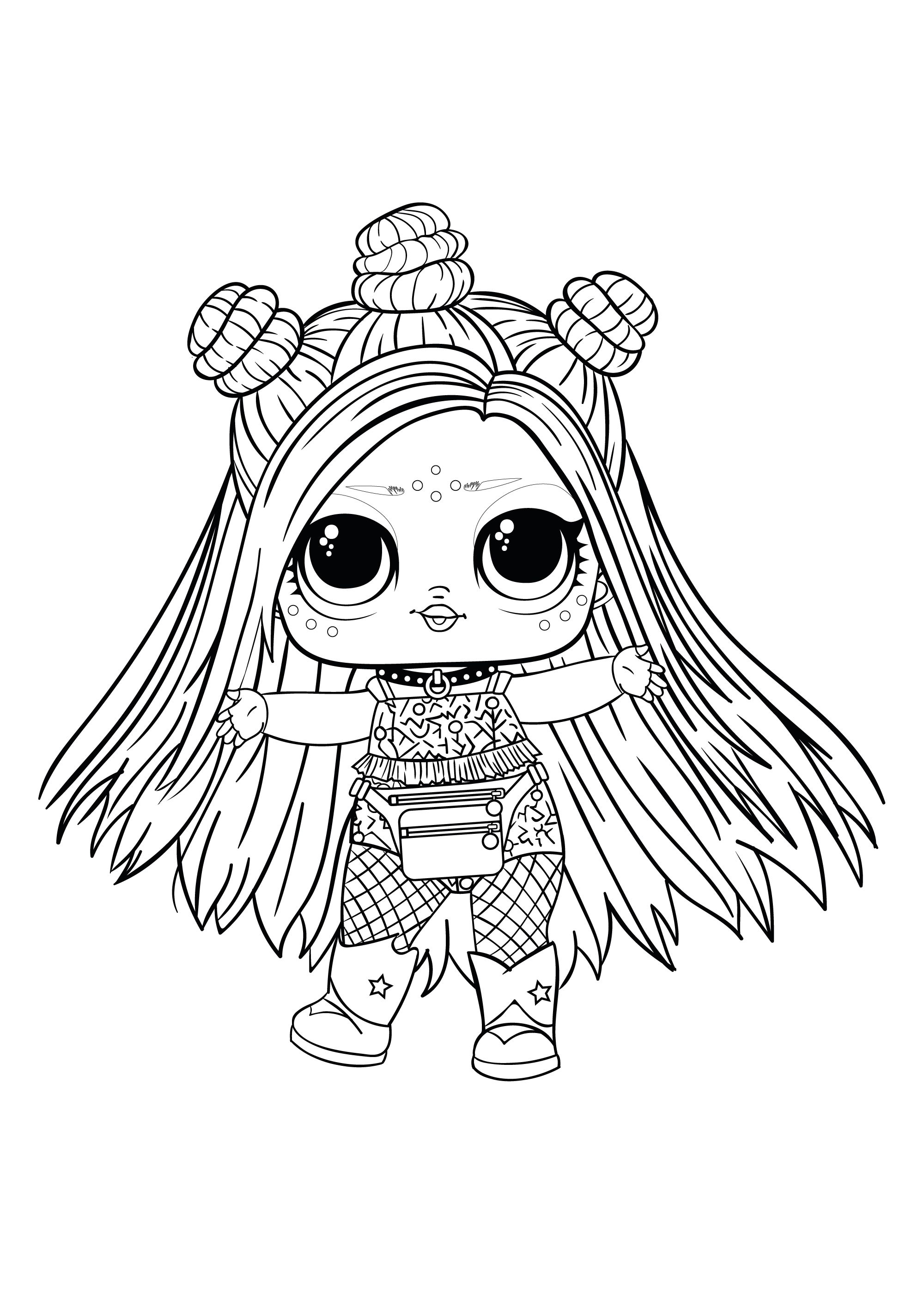 Coloring pages - LOL Surprise Hairgoals and LOL Surprise Boys