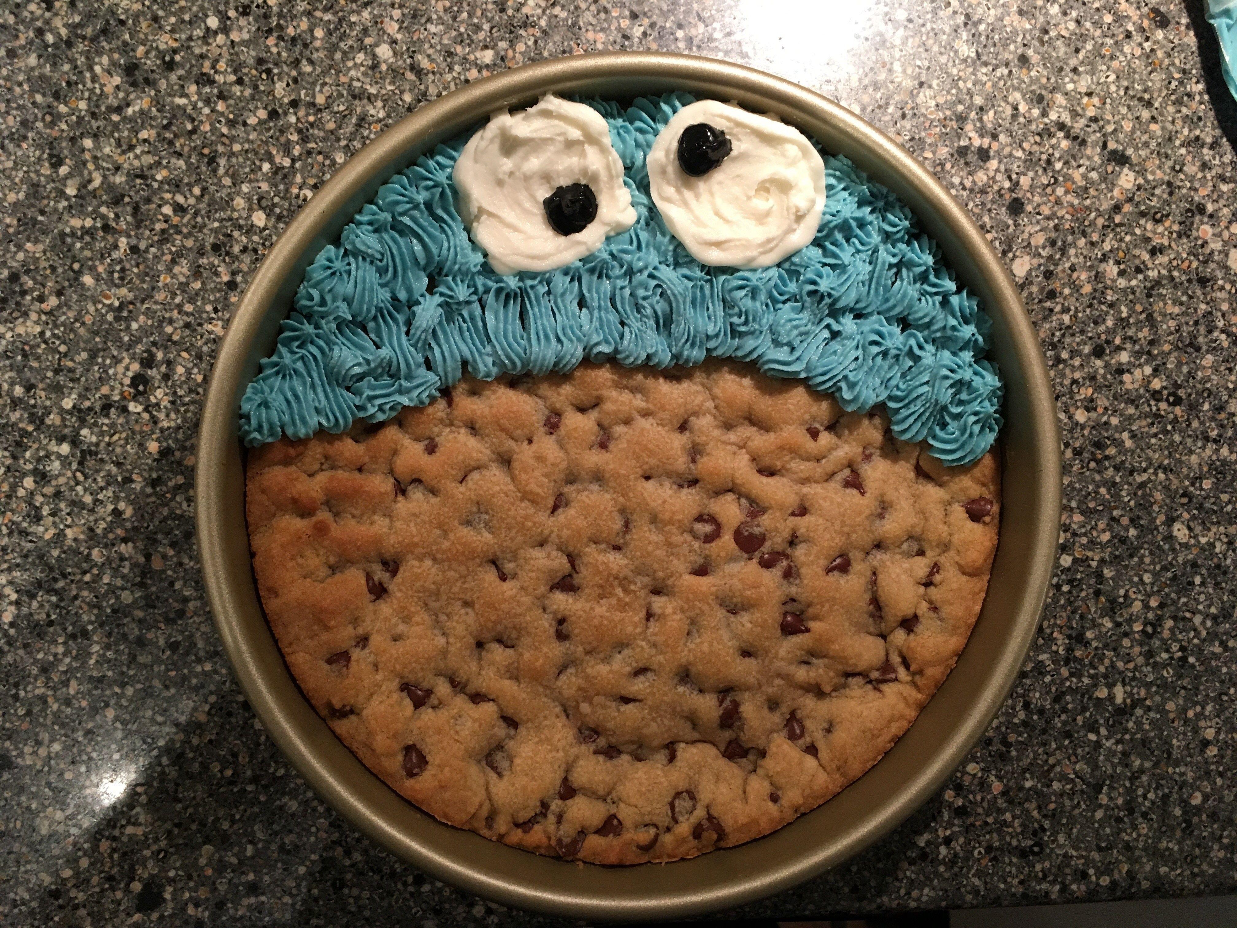 Cookie monster cookie cake cookie cake monster cookies