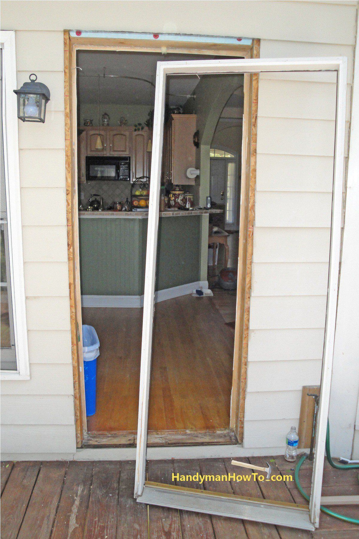 Door Replacement Old Exterior Frame And Rough Opening