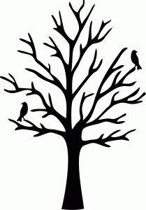 Tree No Branches | Silhouette Tree No Leaves - Clipart.Email