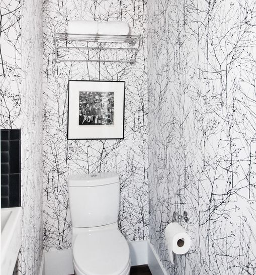 Downstairs cloakroom bathroom pinterest downstairs for Funky bathroom wallpaper ideas