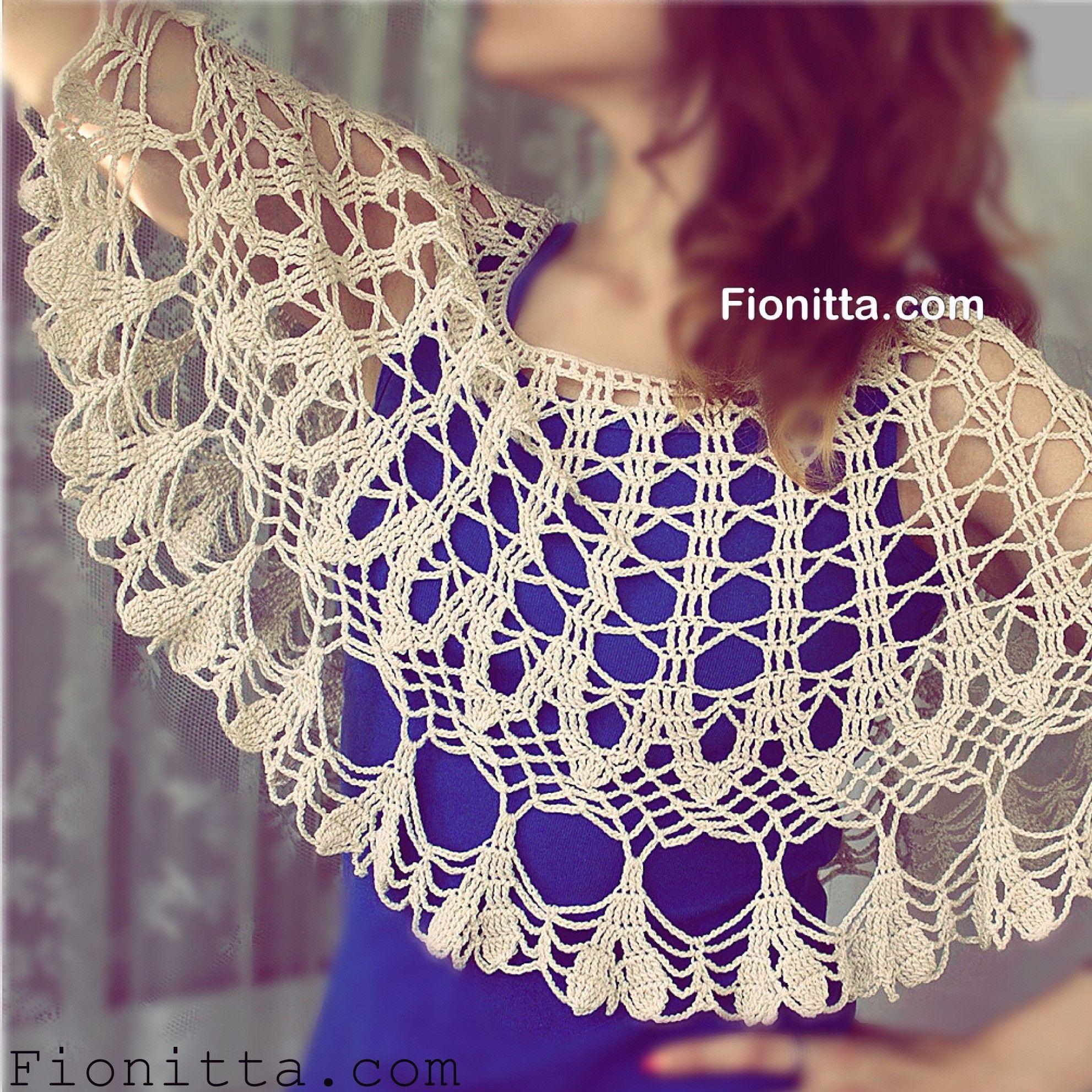 Light Capelet By Fionitta Free Crochet Diagram All Shawl Stitch Diagrams Doris Chan
