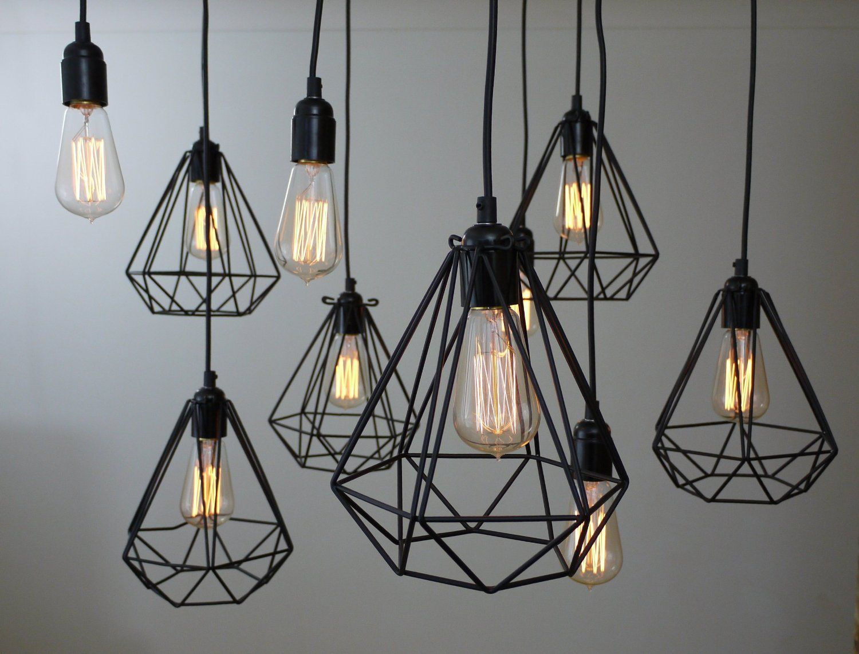 Diamond Bulb Lamp Light Cage Oh So Black Amazon Co Uk Lighting Pendelleuchte Glas Pendelleuchten Hangeleuchte