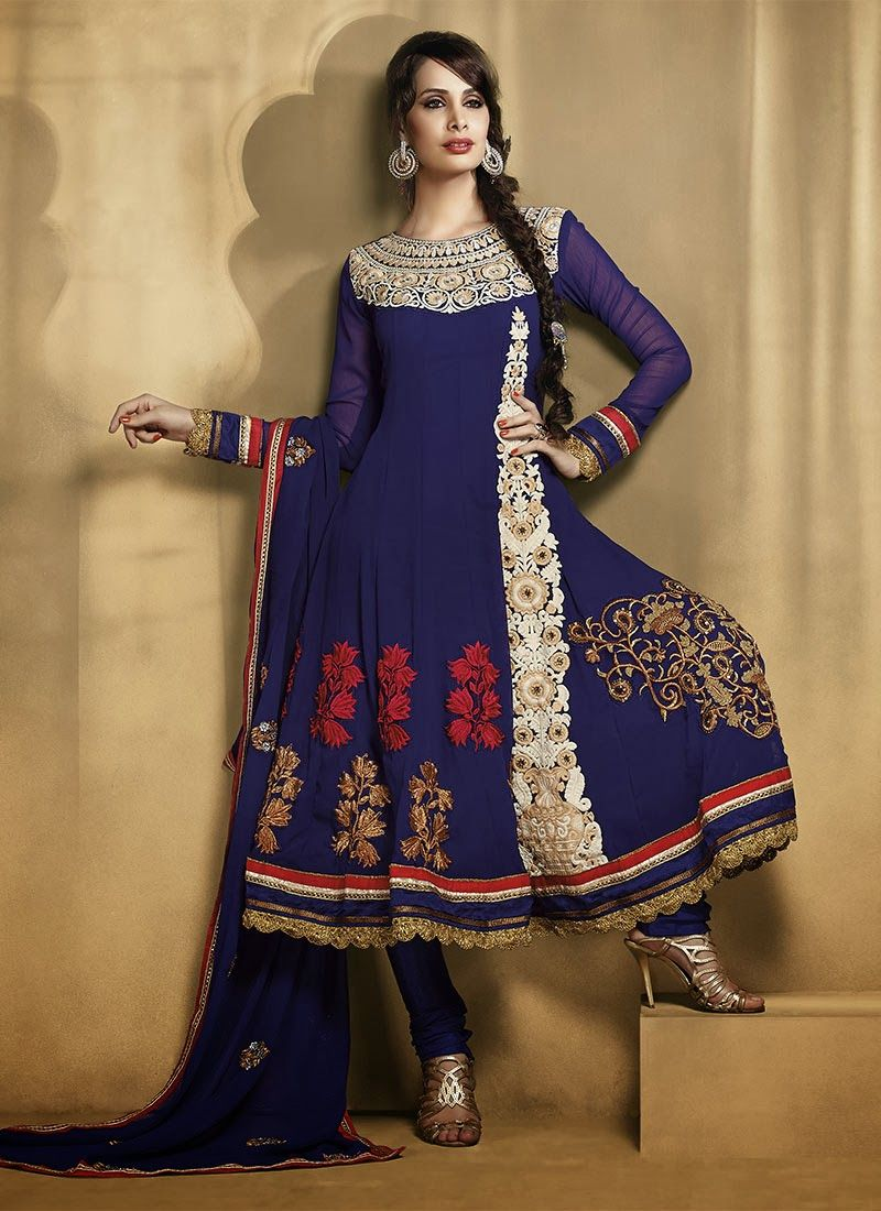 0c9c8a49e9c Latest Stylish and Fancy Indian Anarkali Umbrella Frock designs and  Churridaar Suits 2014-2015 (9)