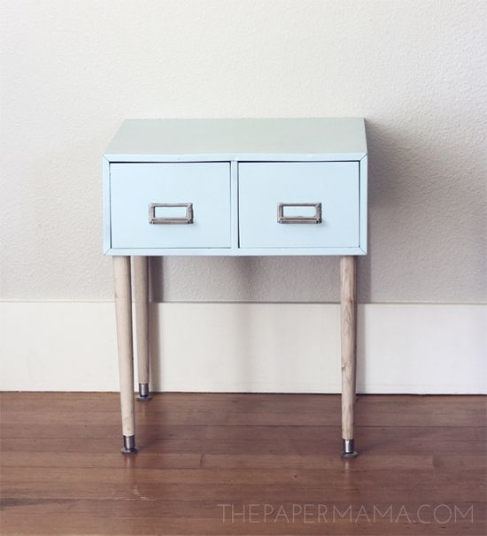 Diy Ify Filing Cabinet Side Table
