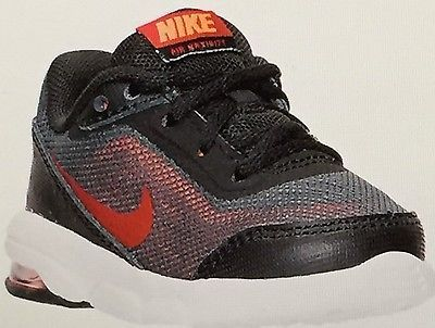 6a9467424ed1d BABY BOYS NIKE AIR MAXIMIZE RUNNING SHOES TODDLER SIZE 5 C RED   BLACK NIB
