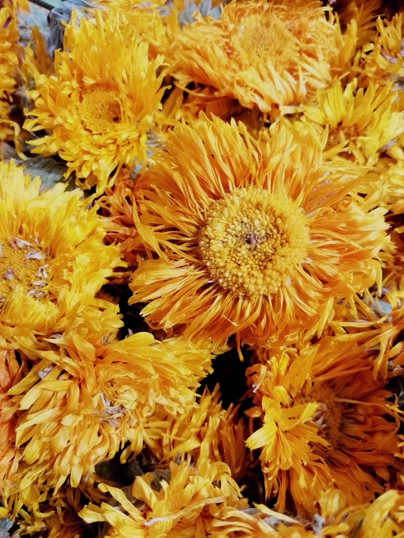 Calendula Flowers, Marigold Whole Dried Flowers, Calendula