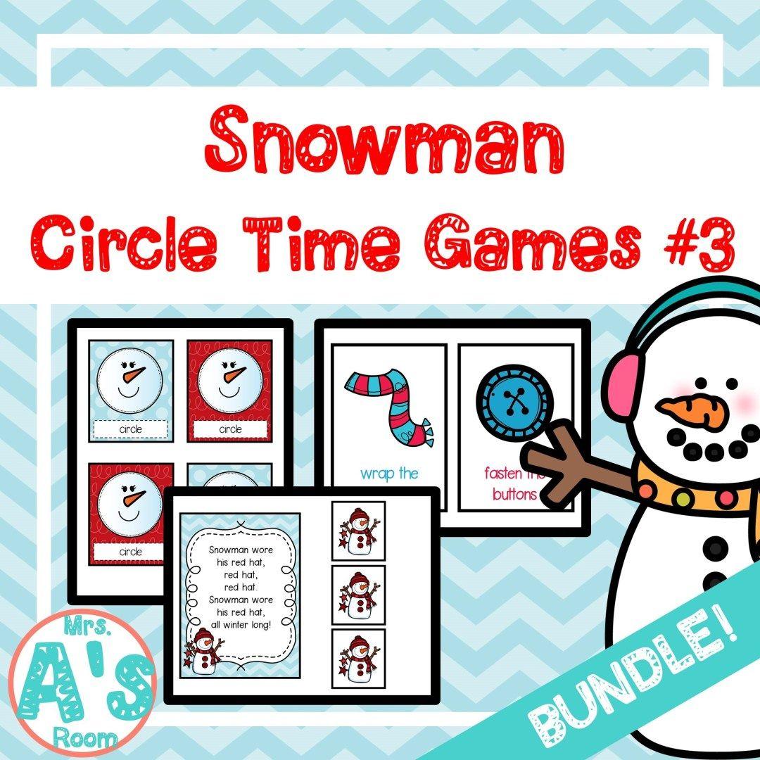 Snowman Circle Time Activities Set 3 Bundle