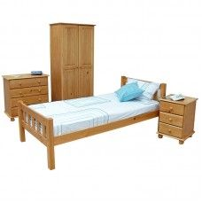 Stylish Single Beds stylish but simple single bed with side board, armoire set