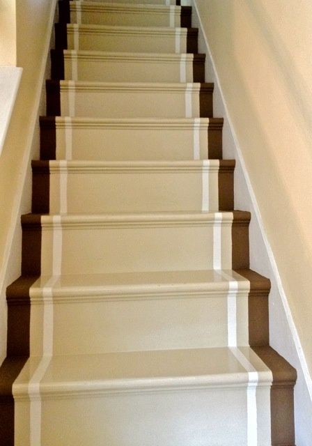 Painted stair runner  I think this is the winner for the basement steps and  the lower level steps  matches our color scheme perfectly painted stair runner   painted stair runner   Dreamy Home   For  . Painted Basement Stairs. Home Design Ideas