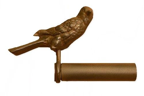 Bird Finial Iron Art Drapery Rods Finials For Curtain Rods