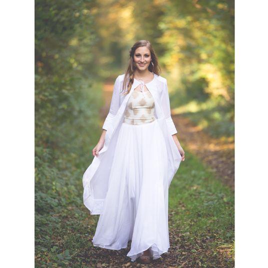 Hochzeitskleid aus Naturmaterialien   Green Wedding   Pinterest ...