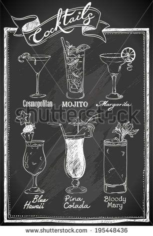 chalkboard art wedding cocktails google search chalkboard pinterest tafel men tafel. Black Bedroom Furniture Sets. Home Design Ideas