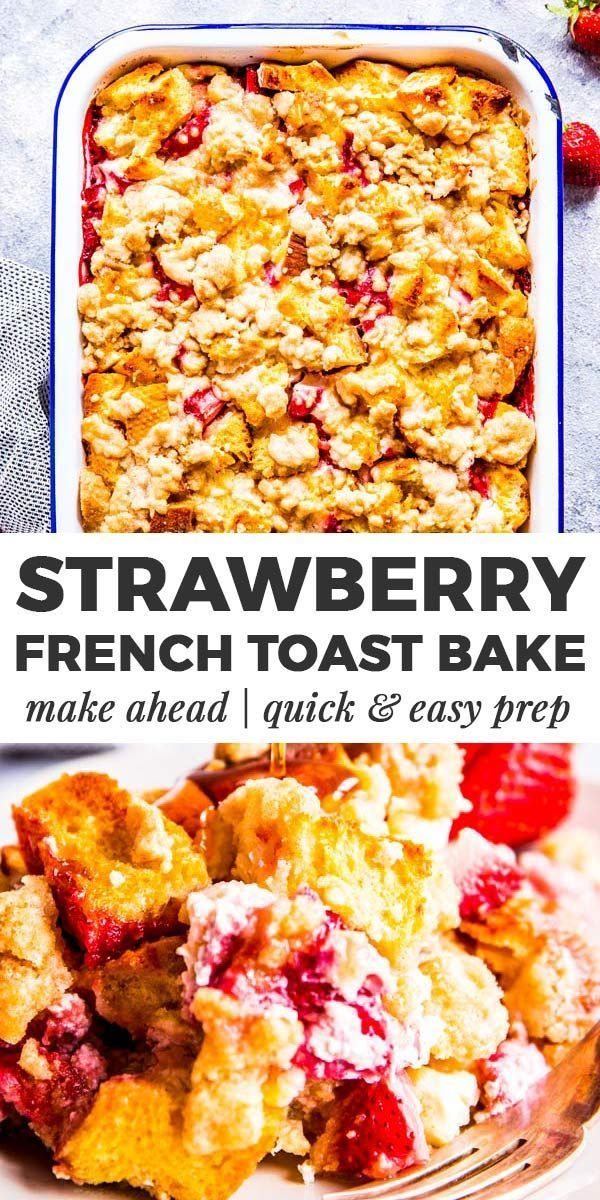 Strawberry French Toast Casserole with Cream Cheese is a delicious brunch dish you can make ahead of time for less stress in the morning A few clever ingredient swaps mak...