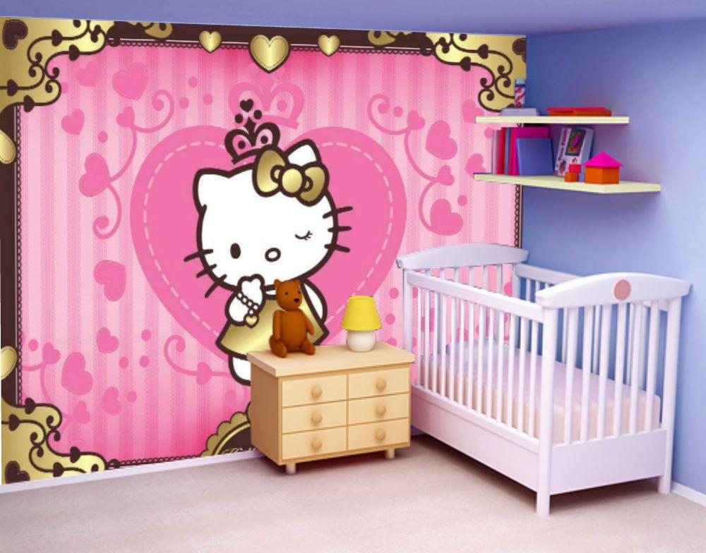 HELLO KITTY Non Woven Photo Wallpaper Wall Mural (4 901) Home Design Ideas