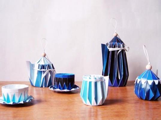 Origami teapots by Japanese designer Yuya Ushida.  Interesting design