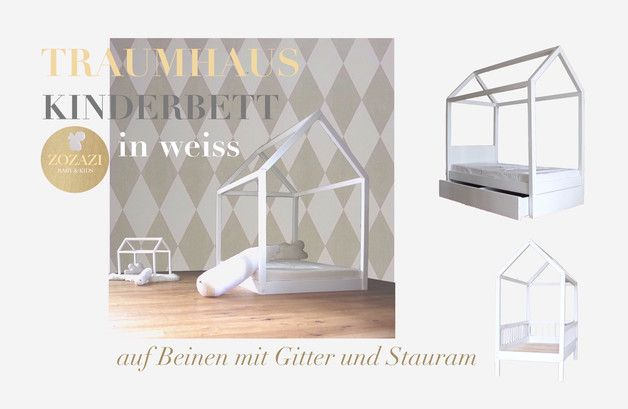traumhaus xl kinderbett 90 x 200 cm diy bett kinder bett und kinderbett. Black Bedroom Furniture Sets. Home Design Ideas