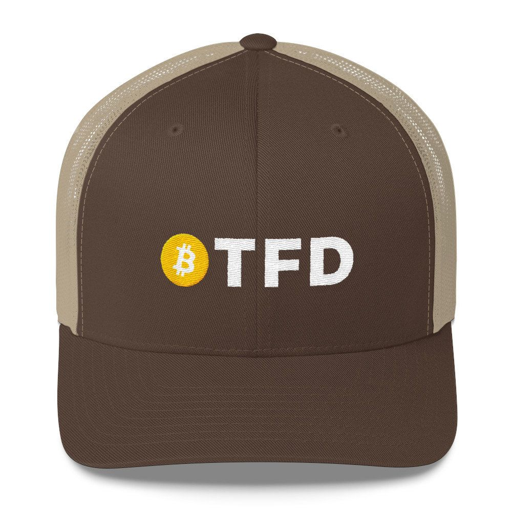 Latest Addition Etsy Shop Btfd Bitcoin Logo Coin Hat Blockchain Embroidered Trucker Cap Trading Term Meaning Buy The F Ing Dip Gift Http Etsy Me 2fb3y9u Fa
