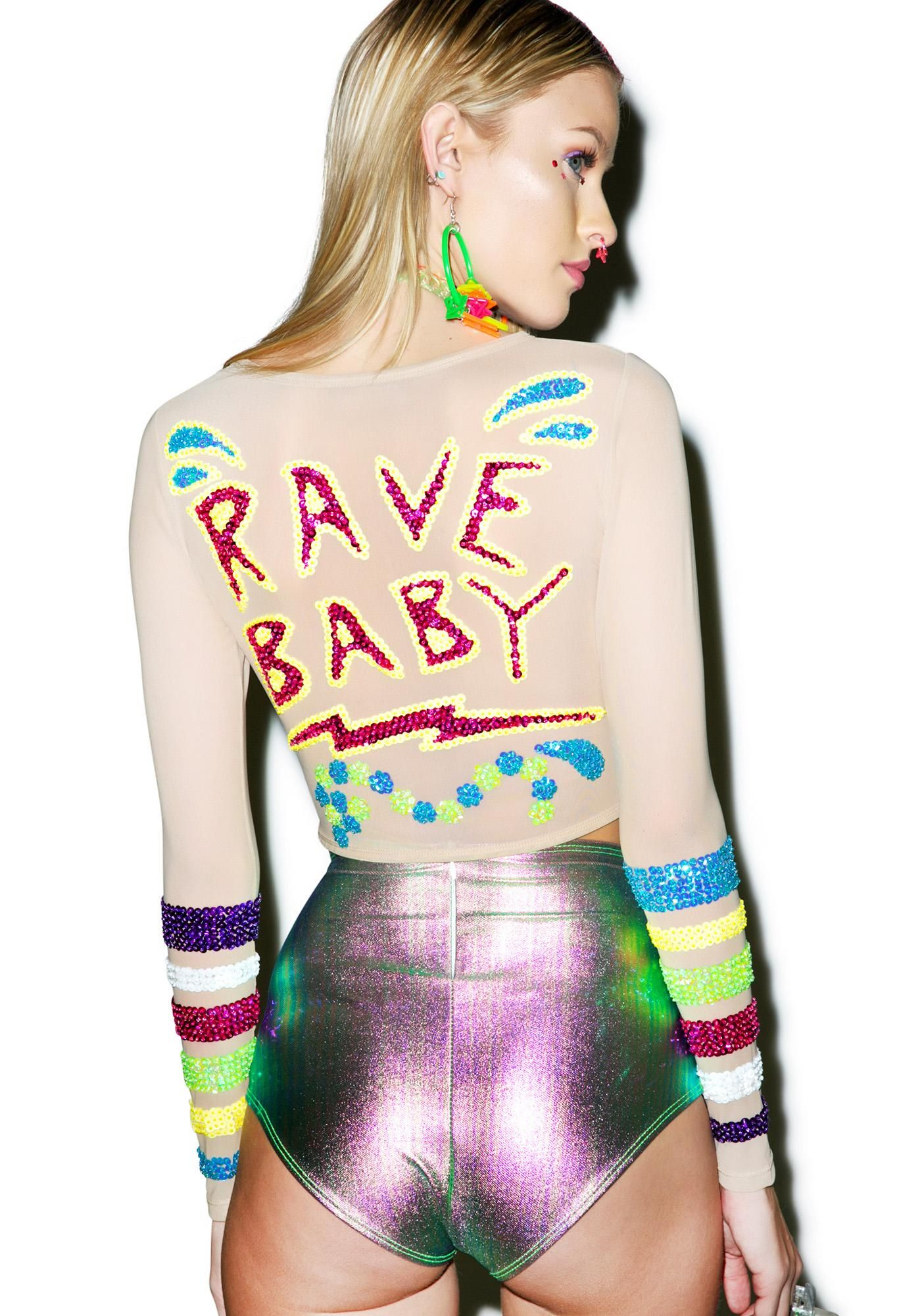 248b0e7ea This Is A Love Song X Dolls Kill Rave Baby Crop Top