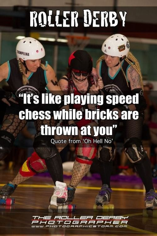 """It's like playing speed chess while bricks are thrown at you""    Quote from Oh Hell No of Northern Brisbane Rollers"