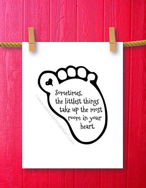 Baby Girl Quotes Short : quotes, short, Sometimes, Littlest, Things, WeLovePrintableArt,, .00, Gi…, Quotes,, Newborn, Gifts,, Quotes